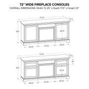 FP72E Fireplace Custom TV Console Product Image