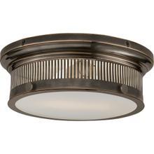 E. F. Chapman Alderly 2 Light 13 inch Bronze Flush Mount Ceiling Light