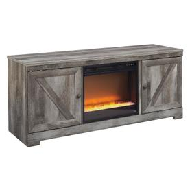 Wynnlow LG TV Stand W/Fireplace Insert Gray