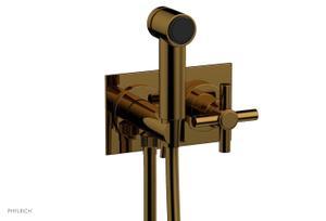 BASIC Wall Mounted Bidet, Tubular Cross Handle 134-65 - French Brass Product Image