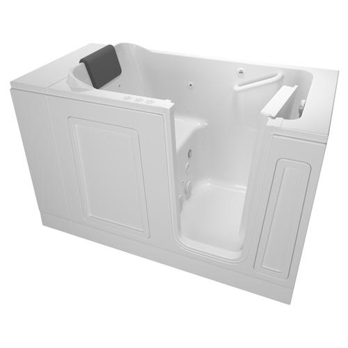 Luxury Series 30x51-inch Right Drain Walk-In Tub  Combo Massage Tub  American Standard - White