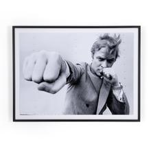 """48""""x36"""" Size Michael Caine Punch By Getty Images"""