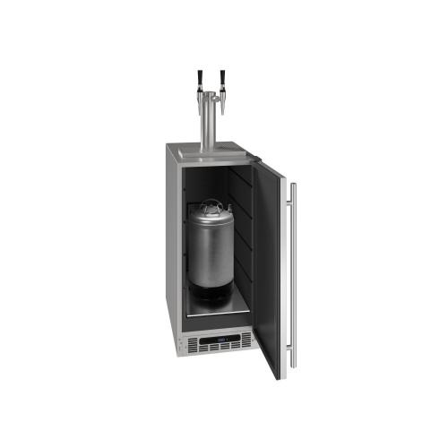 """15"""" 2 Tap Nitro Coffee Dispenser With Stainless Solid Finish (230 V/50 Hz Volts /50 Hz Hz)"""