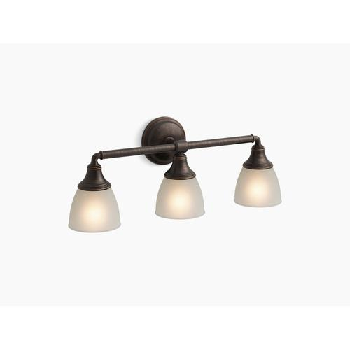 Oil-rubbed Bronze Triple Wall Sconce