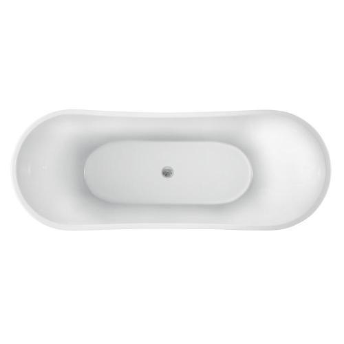 "Nydia 72"" Acrylic Double Slipper Tub"