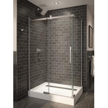 "Stainless 48"" x 36"" Frameless Shower Enclosure"