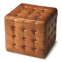 See Details - This button tufted ottoman makes for an attractive and exquisite addition to any home. It is the perfect option for anyone who is in need of functionality and utility value, but doesn't want to compromise on good looks and aesthetic appeal. This ottoman has a distinctly contemporary style that is beautifully expressed through its cube shape. Its upholstery is made from leather that offers an excellent seating surface.