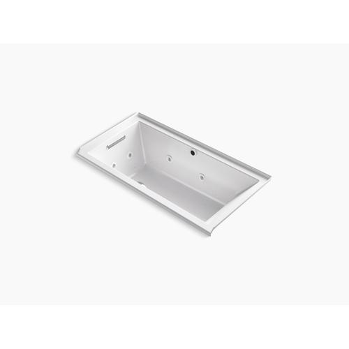 "Thunder Grey 60"" X 30"" Heated Bubblemassage Air Bath With Whirlpool, Alcove, Left Drain"