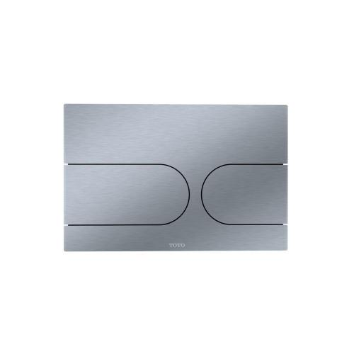 Wall Round Push Plate - Dual Button - Stainless Steel