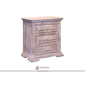 Terra 3 Drawer Nightstand White