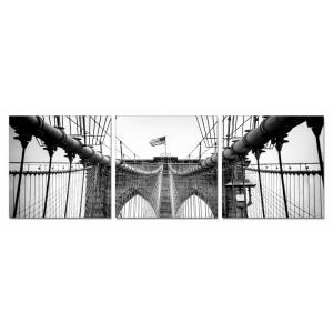Gallery - Modrest Bridge Tower 3-Panel Photo On Canvas