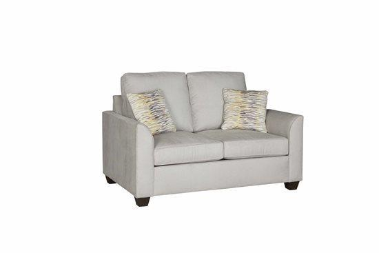 Love Seat - Shown in 109-05 Gray Microfiber Finish