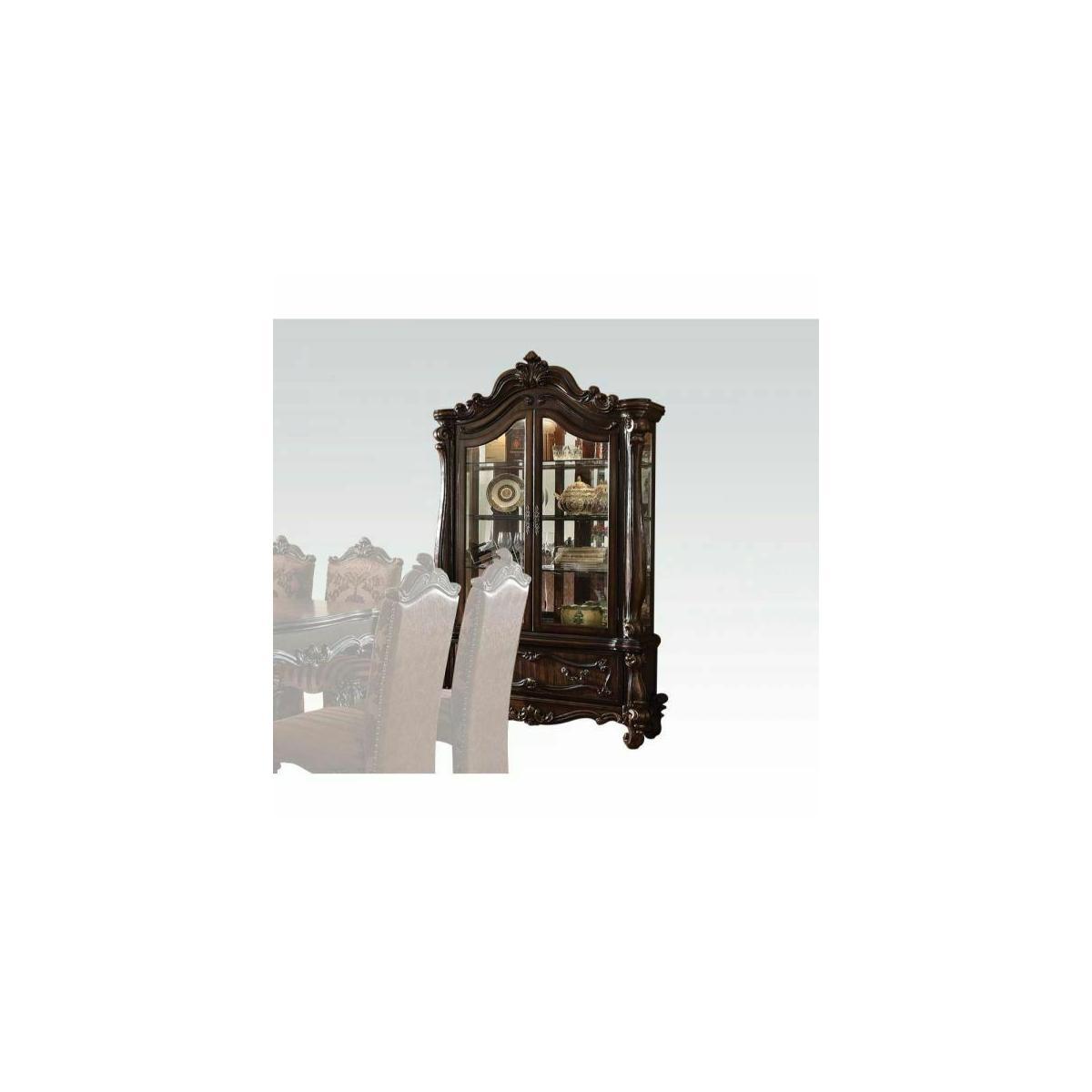 ACME Versailles Curio Cabinet - 61158 - Cherry Oak