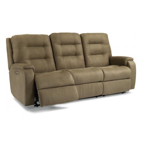Arlo Power Reclining Sofa with Power Headrests