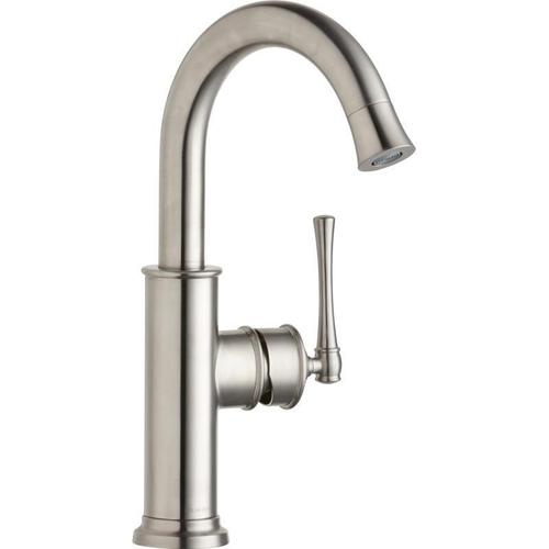 Elkay - Elkay Explore Single Hole Bar Faucet with Forward Only Lever Handle Lustrous Steel
