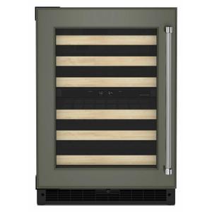 "KitchenAid24"" Panel-Ready Undercounter Wine Cellar with Wood-Front Racks - Panel Ready PA"