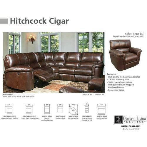 HITCHCOCK - CIGAR Power Armless Recliner