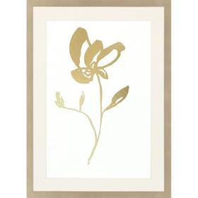 Gold Foil Sumi-e II