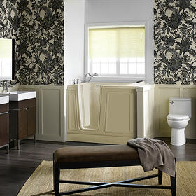 Acyrlic Luxury Series 30x51 Walk-in Tub Left Drain  American Standard - Linen