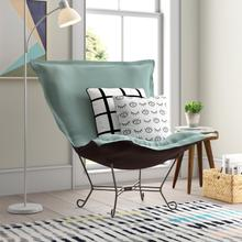 See Details - Scroll Puff Chair Sterling Breeze Titanium Frame