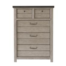 See Details - 5 Drawer Chest in Farmhouse Grey