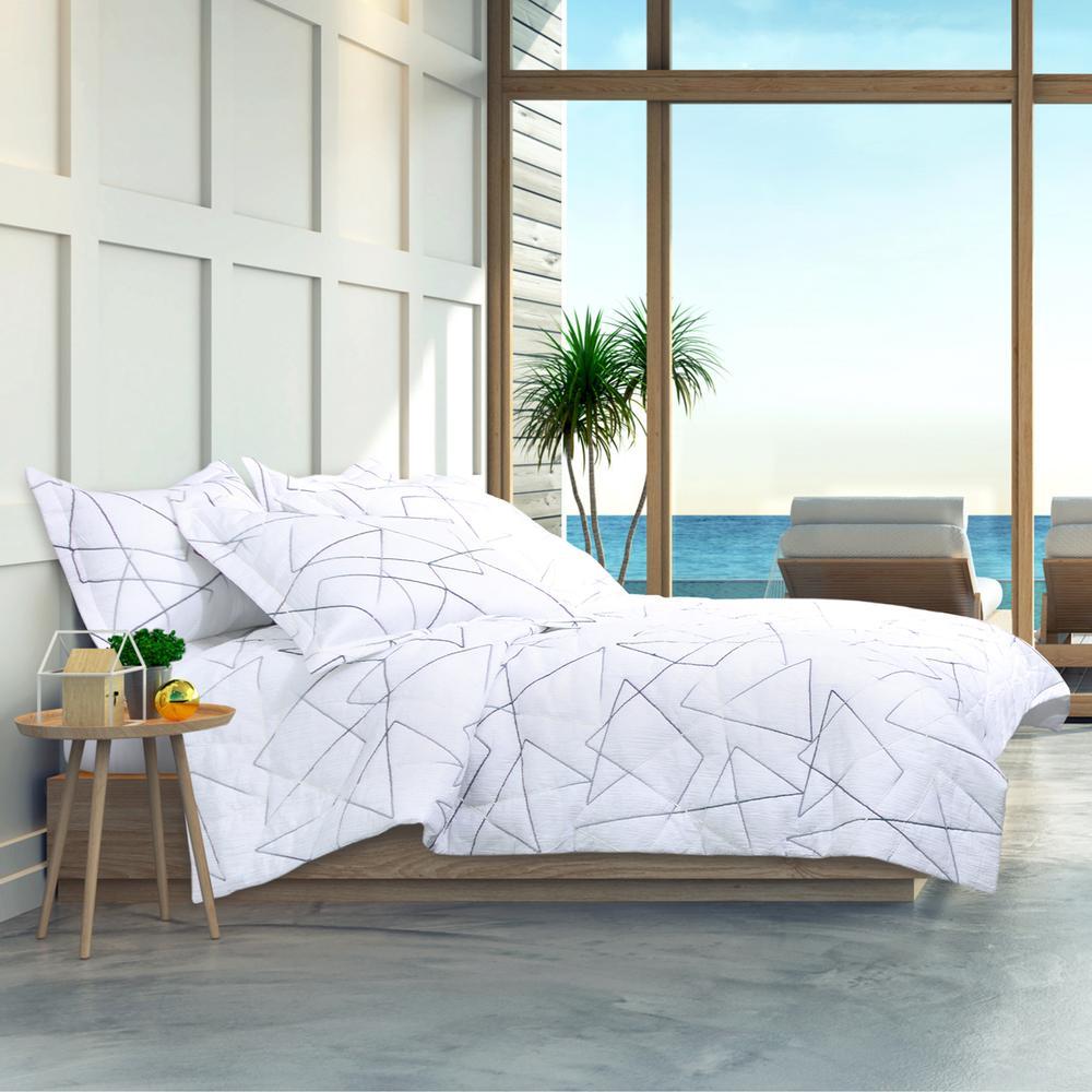 5pc Queen Comforter Set White