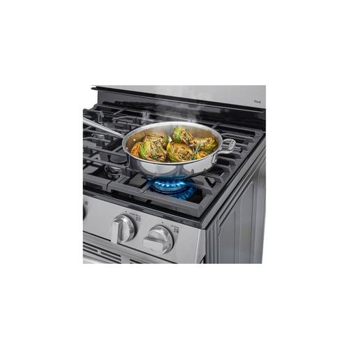 LG Canada - 5.8 cu ft. Smart Wi-Fi Enabled Fan Convection Gas Range with Air Fry & EasyClean®