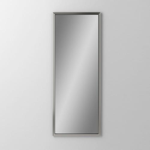 "Main Line 15-1/8"" X 39-7/8"" X 1-5/8"" Rosemont Framed Mirror In Satin Nickel"