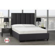 See Details - Celine Platform Bed, Full Size - Dark Grey Linen