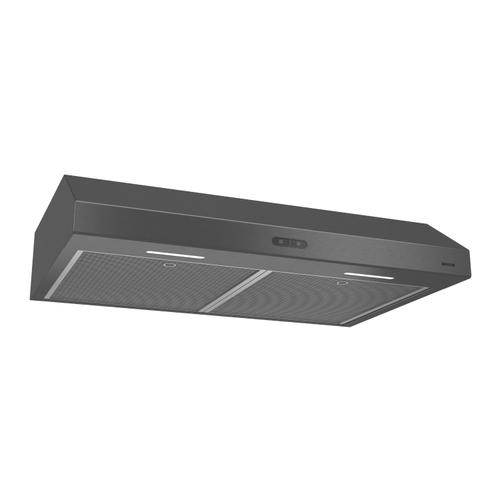 Broan® Glacier 30-Inch Convertible Under-Cabinet Range Hood, 375 Max Blower CFM, Black Stainless Steel