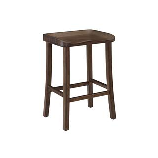 "Tulip 26"" Counter Height Stool, Black Walnut, (Set of 2)"