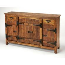 See Details - Modern entertainment meets rustic design in this solid wood sideboard. Each piece is uniquely characterized by natural color variations and hand finishing techniques reminiscent of the reclaimed look. Its ample interior is perfect for stowing some of life's most important necessities whether it be stemware, linens, spirits or otherwise.