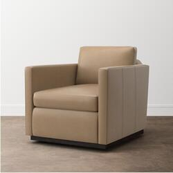 Myles Leather Swivel Chair