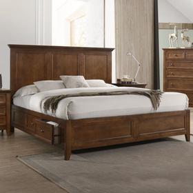 San Mateo Storage Bed  Tuscan