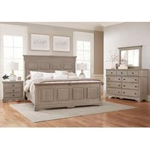 Queen MANSION BED WITH OPTIONAL DECORATIVE SIDE RAILS