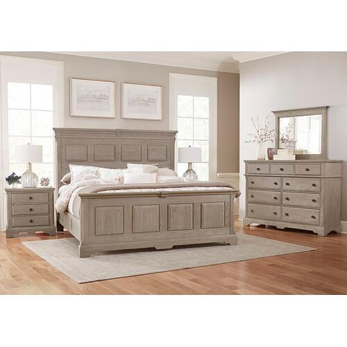 MANSION BED WITH OPTIONAL DECORATIVE SIDE RAILS