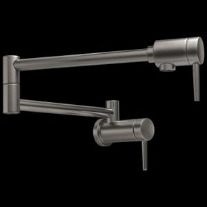 Black Stainless Contemporary Pot Filler Product Image