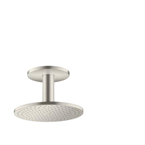 Stainless Steel Optic Overhead shower 250 1jet with ceiling connection