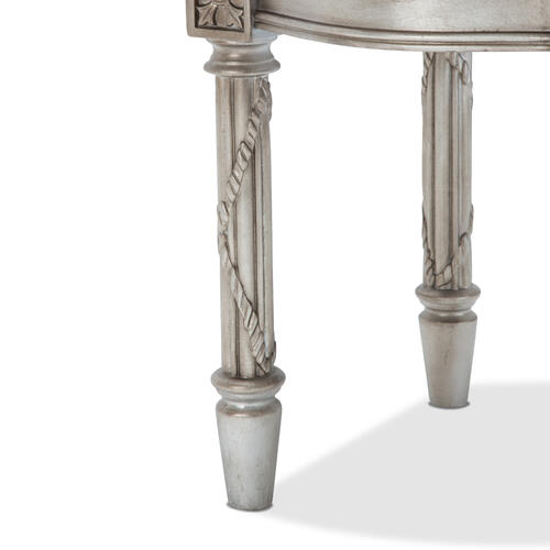 Giselle End Table Platinum