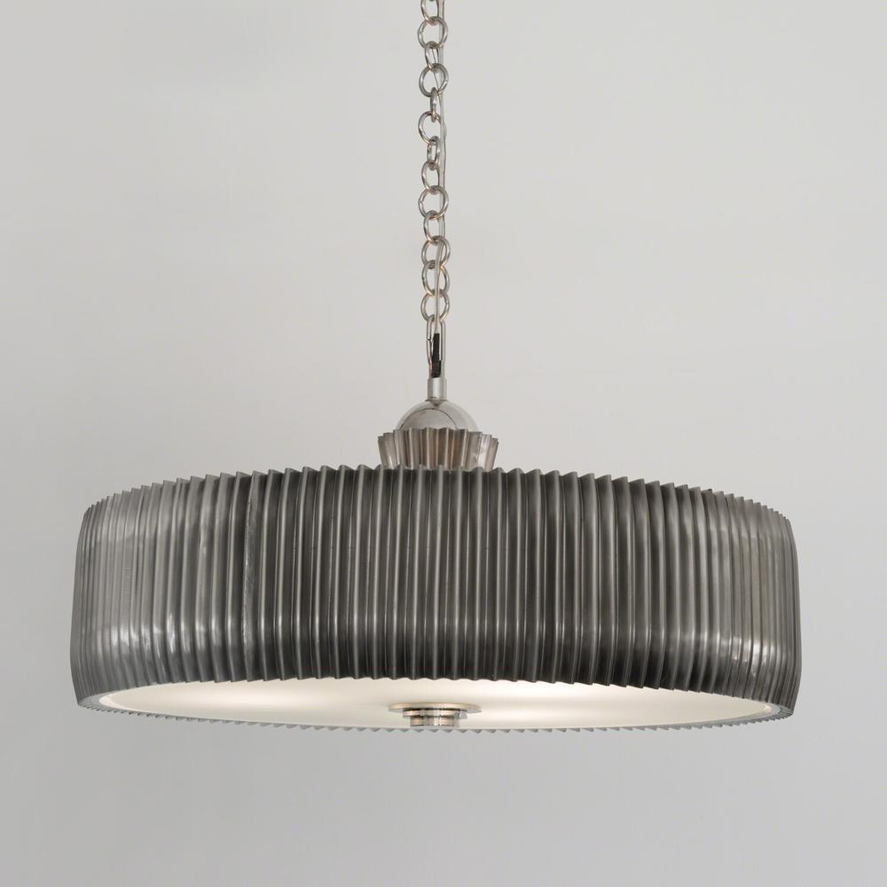 See Details - Crimp Chandelier-Antique Nickel