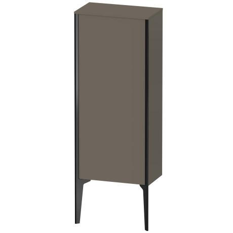 Semi-tall Cabinet Floorstanding, Flannel Gray Satin Matte (lacquer)