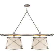 View Product - E. F. Chapman Grosvenor 4 Light 51 inch Antique Nickel Linear Pendant Ceiling Light
