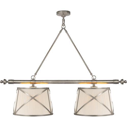 Visual Comfort - E. F. Chapman Grosvenor 4 Light 51 inch Antique Nickel Linear Pendant Ceiling Light