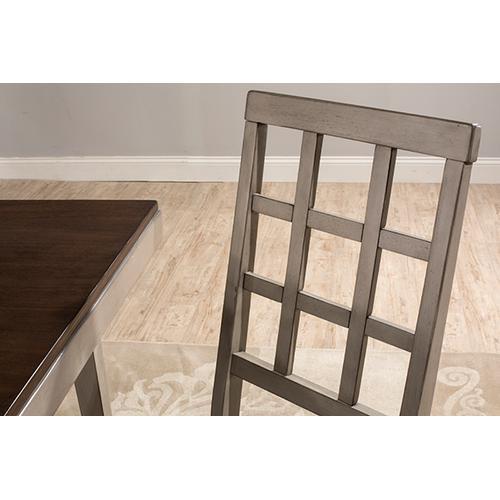 Gallery - Garden Park Dining Chair - Set of 2 - Gray With Dark Espresso (wirebrush)