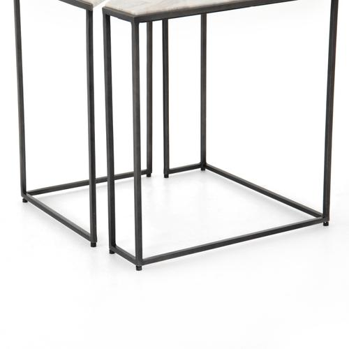 Creamy Taupe Finish Jaz End Table