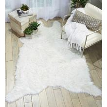 "Fur Fl100 White 60"" X 84"" Throw Blanket"