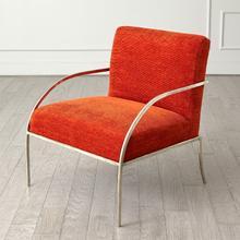 See Details - Swoop Chair-Orange-Nickel