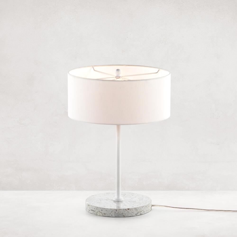 Noma Table Lamp-polished White Terrazzo