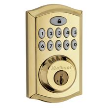 View Product - 913 Smartcode Traditional Electronic Deadbolt - Lifetime Polished Brass