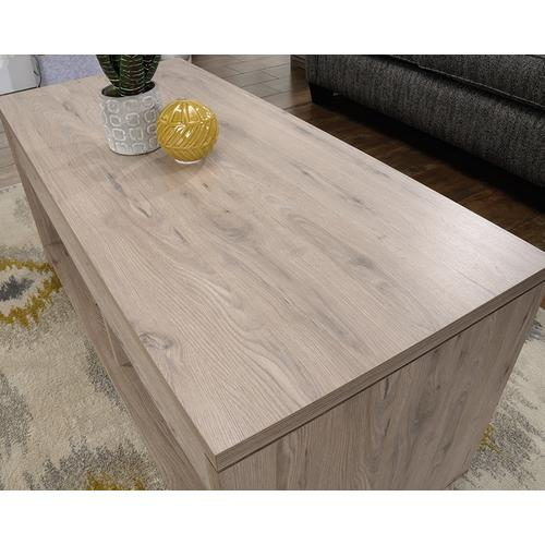 Lift-top Coffee Table with Open Shelves